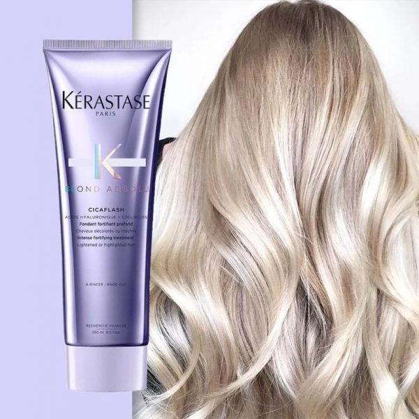 Θεραπεία για ξανθά μαλλιά για κάμψη